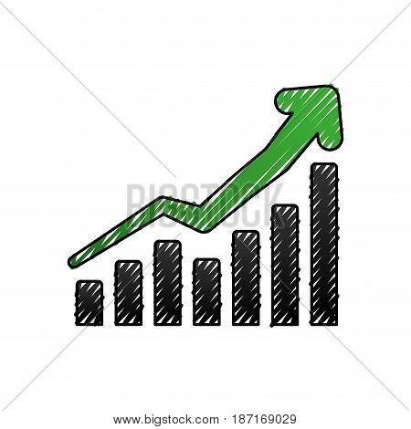 Business growing statistics icon vector illustration graphic design
