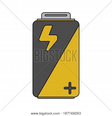 color image cartoon alkaline battery electricity charge vector illustration