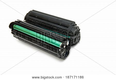 Cartridge for laser printer isolated on white background