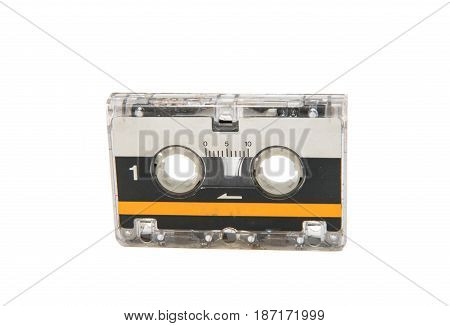 Retro stereo cassette isolated on white background