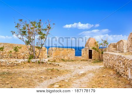 Courtyard & Fortifications, Fortezza Castle, Crete