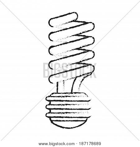 blurred silhouette image cartoon fluorescent light bulb vector illustration