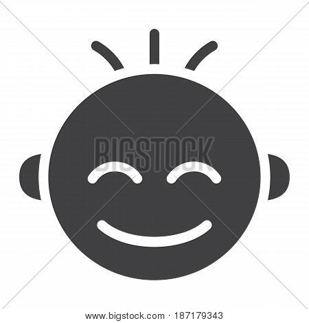 Baby boy solid icon, child and infant, vector graphics, a filled pattern on a white background, eps 10.