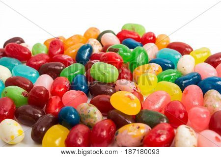 jelly beans candy on a white background