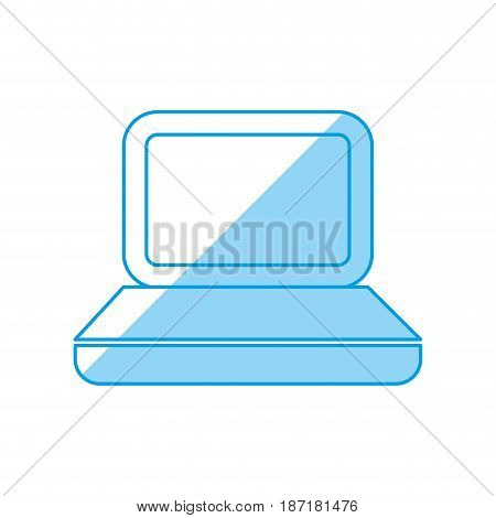 Laptop pc computer icon vector illustration graphic design