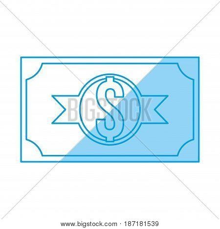 Billet money symbol icon vector illustration graphic design
