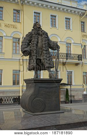A monument to the architect and engineer Domenico Andrea Trezzini in St.Petersburg