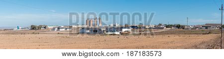 VREDENBURG SOUTH AFRICA - APRIL 1 2017: Panorama of an industrial area in Vredenburg a town in the Western Cape Province