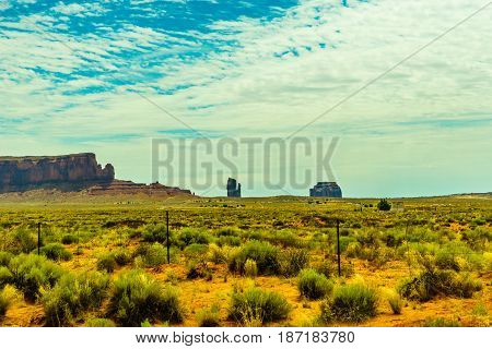 A road leading to Monument Valley Kayenta Arizona