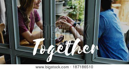 Couple Dating Love Together Words