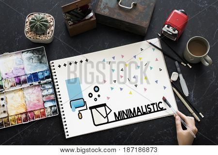 Graphic of creative art design on sketchbook