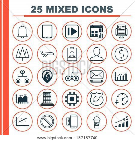 Set Of 25 Universal Editable Icons. Can Be Used For Web, Mobile And App Design. Includes Elements Such As Forest, Soda, Guard Tree And More.