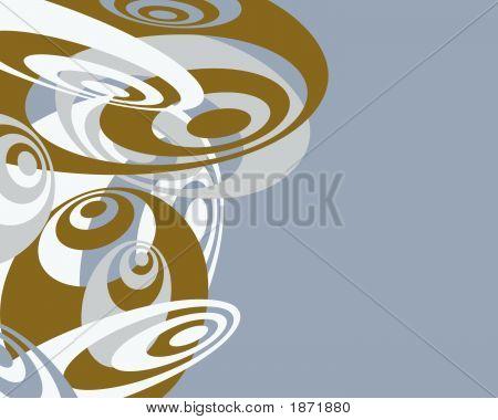 Blue, Brown & White Swirlies Background