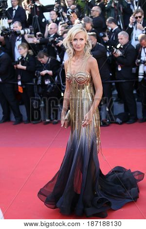 Lady Victoria Hervey attends the 'Okja' screening during the 70th annual Cannes Film Festival at Palais des Festivals on May 19, 2017 in Cannes, France.