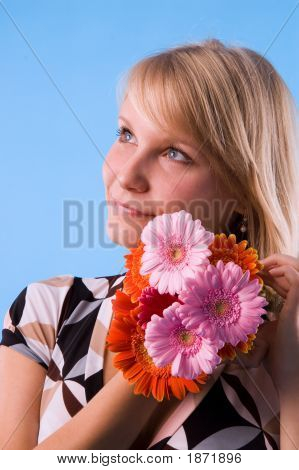 The Girl And Flowers