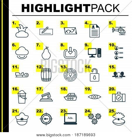 Set Of 25 Universal Editable Icons. Can Be Used For Web, Mobile And App Design. Includes Elements Such As Keyword Marketing, Female Application, Glance And More.