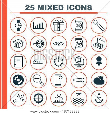 Set Of 25 Universal Editable Icons. Can Be Used For Web, Mobile And App Design. Includes Elements Such As Metro, Gift, Blank Cd And More.