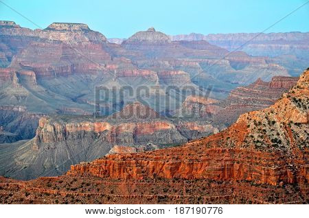Grand Canyon at the sunset time - USA