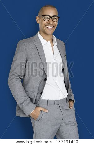 African Descent Business Man Smiling