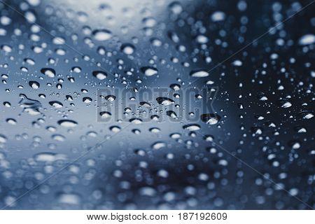 rain drops. water drop in rainy season.