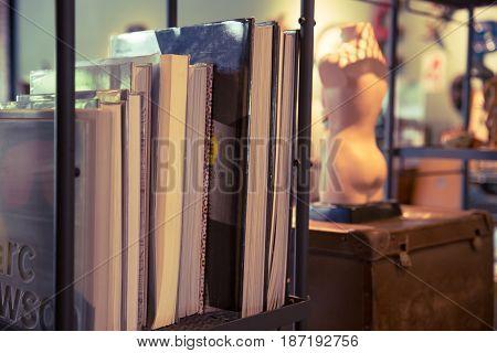 Book Home Decoration Vintage Retro Object Style Background Vintage Color Tone.