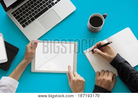 Writing Notes Tablet Laptop Technology