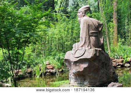 Su Shi Poet Sculpture In Meishan