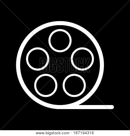 film Icon. Vector illustration of video concept isolated on black. eps 10