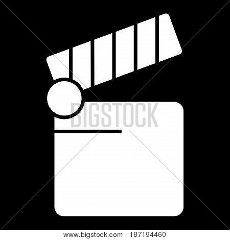 Cinema icon. Movie icon vector isolated on black. eps 10
