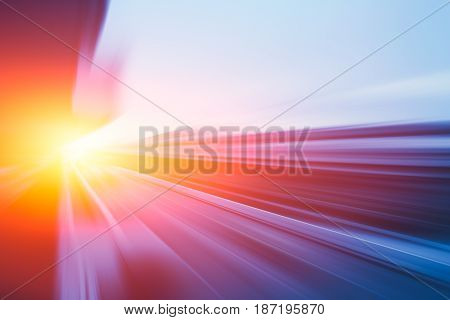 Illustration of Moving Fastest High speed concept Acceleration super fast speedy drive motion blur of lightning abstract for background design.