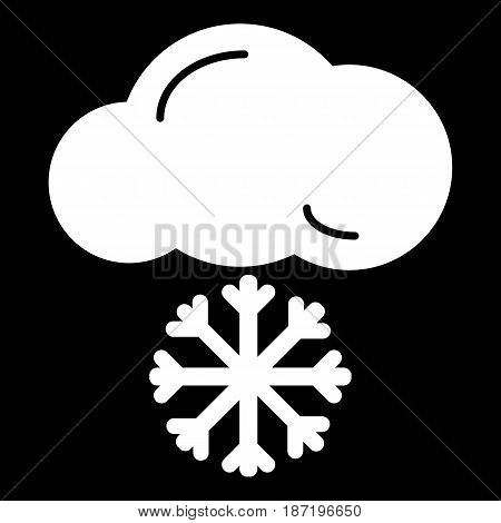 snow cloud meteo icon. vector isolated on black. eps 10