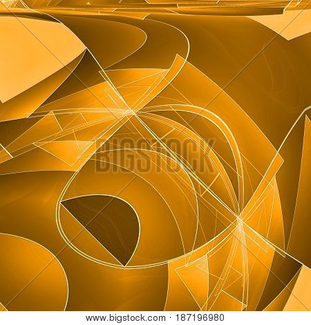 Abstract techno background with lines in waves.