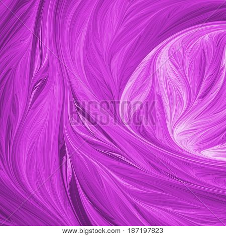 Abstract Swirly Purple Shapes. Fantasy Fractal Background. Psychedelic Digital Art. 3D Rendering.