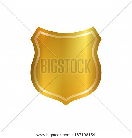 Shield Gold Icon Shape Emblem