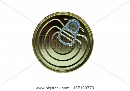 lid of a tin can isolated on a white background