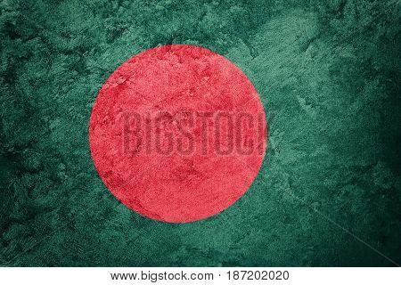 Grunge Bangladesh Flag. Bangladesh Flag With Grunge Texture.
