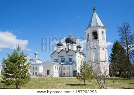 Sunny May Day in the Zelenets Trinity Monastery. Leningrad region, Russia