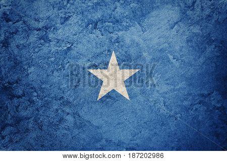 Grunge Somalia Flag. Somalia Flag With Grunge Texture.