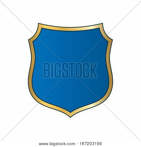 Shield Gold Blue Icon Shape Emblem