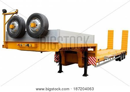 Modern trailer to transport cargo and equipment.