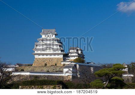 Himeji castle in Kansai Japan famous heritage landmark