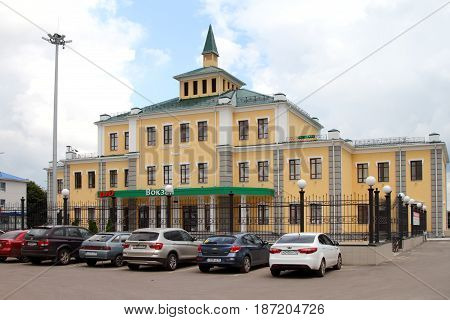 POVORINO, RUSSIA - JULY 16, 2015: Railway station in the town of Povorino. Voronezh region. Russia.