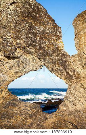 Bar Rock Lookout and Australia Rock Narooma Australia