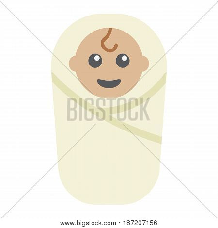 Baby birth flat icon, kid and newborn, vector graphics, a colorful solid pattern on a white background, eps 10.