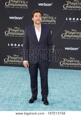 Javier Bardem at the U.S. premiere of 'Pirates Of The Caribbean: Dead Men Tell No Tales' held at the Dolby Theatre in Hollywood, USA on May 18, 2017.