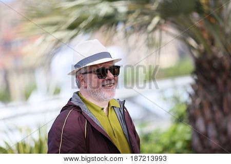 Pedro Almodovar attends the Jury photocall during the 70th annual Cannes Film Festival at Palais des Festivals on May 17, 2017 in Cannes, France.