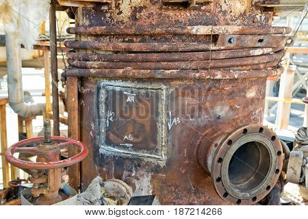 Old Rusty Chemical Apparatus After Repair