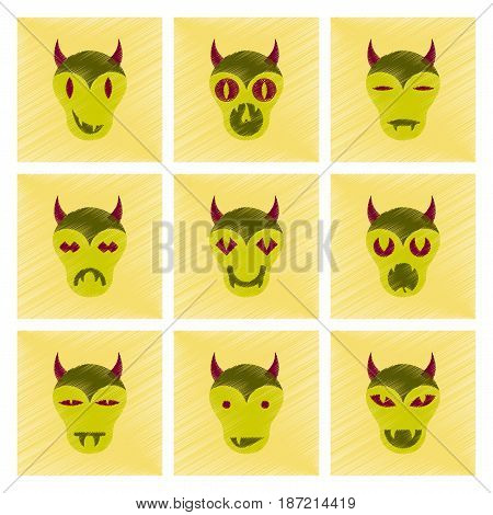 assembly flat shading style icon of halloween monster