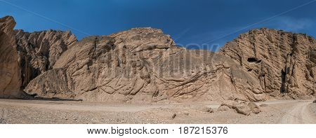 Stone ridges in the Yellow River Stone Forest park in Jingtai County, Gansu province, China.