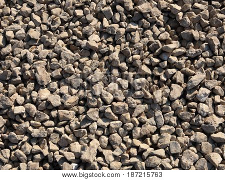 image of many gravel at dry sunny day